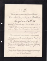 PARIS Au SAUSSAY Marie De BERCKHEIM Marquise De COLBERT 45 Ans 1897 Faire-part Mortuaire Noblesse - Avvisi Di Necrologio