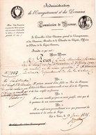 ADMINISTRATION DE L'ENREGISTREMENT ET DES DOMAINES. Nomination De VÉZELAY à AVESNE-LE-COMTE  De PÉRET É. - Réf. N°85F - - Historical Documents