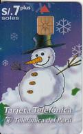 PERU - Merry Christmas & Happy New Year, Telefonica Telecard, Chip GEM1a, Tirage 30000, 12/98, Used - Peru
