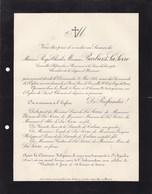 ST AQUILIN Orne Roger BARBIER De LA SERRE 1914 Cour Des Comptes Famille De La LANDE De CALAN - Décès