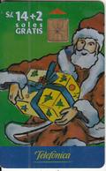 PERU - Christmas 1999, Telefonica Telecard, Chip GEM1, Tirage 8000, 12/99, Used - Peru