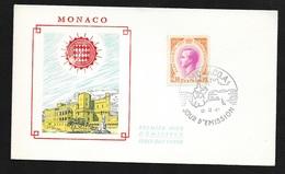 FDC Lettre Premier Jour Monaco Le 12 Décembre 1966 Avec Le  N° 707 Rainier  III    TB - FDC