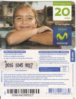 PERU - Little Girl, Movistar By Telefonica Prepaid Card 20 Soles, Exp.date 31/12/12, Used - Peru