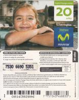 PERU - Little Girl, Movistar By Telefonica Prepaid Card 20 Soles, Exp.date 31/12/10, Used - Peru