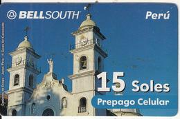 PERU - Convento De Ocopa/Junin, BellSouth Prepaid Card 15 Soles, Exp.date 12/02, Used - Peru