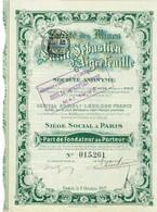 Ancienne Action - Société Des Mines De Saint-Sébastien D'Aigrefeuille -  Titre De 1907 - - Mines