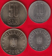 Romania Set Of 2 Coins: 10-50 Bani 2018 UNC - Rumänien