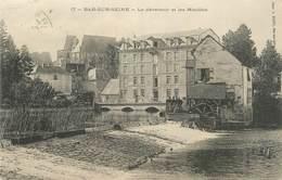 """CPA FRANCE 10 """" Bar Sur Seine, Le Déversoir Et Les Moulins"""". - Bar-sur-Seine"""
