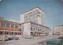 Stavanger Norway, Bank, Street Scene, Autos C1960s Vintage Postcard - Norvège