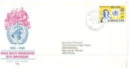 (654) Gibraltar FDC Cover - 1968 - WHO - Nurse - Santé
