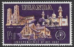 Uganda SG106 1962 Independence 1/-30 Good/fine Used [37/30867/2D] - Uganda (1962-...)