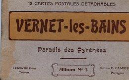 66 VERNET-LES-BAINS - Carnet Album N° 3 De 12 Cartes Postales, Dont Animée - (2 Scans) - France