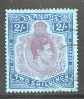 1938  Geo VI  2/- SG 116 Crease - Bermudes