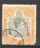 1938  Geo VI  12/6  SG 120a  Used - Bermuda