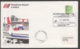 1976  First Concorde Scheduled Commercial Flight From Heathrow Airport - 1952-.... (Elisabetta II)