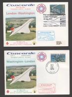 1976  First Concorde  Flight London - Washington DC And Return - 1952-.... (Elisabetta II)