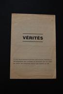 TRACT DEPLIANT POLITIQUE ANTI-COMMUNISTE DISTRIBUE PAR LES DEPUTES DE DROITE EN 1978 A ROUEN 76 - Documents Historiques