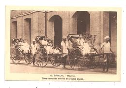 Birmanie-Maymyo -Elèves Tamoules Arrivant En Pousse-pousse--(C.5036) - Myanmar (Burma)