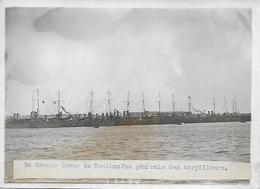 Photo Originale - Revue De Toulon - Vue Générale Des Torpilleurs - 1909 - - Barche