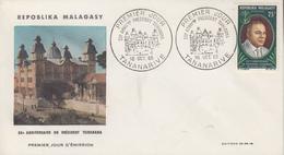 Enveloppe  FDC  1er  Jour   MADAGASCAR    55éme  Anniversaire  Du  Président  TSIRANANA    1965 - Madagascar (1960-...)