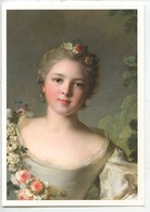 Jean Marc Nattier 1685/1766 : La Marquise D'Antin (détail) Portrait Musée Jacquemart Paris (cp Vierge) - Peintures & Tableaux