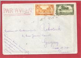 Y&T N°PA5+101 MARAKECH      Vers  FRANCE  1927 - Briefe U. Dokumente