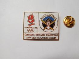 Beau Pin's En EGF , Armée Militaire , Compagnie Montagne Gendarmerie , JO , Jeux Olympiques Albertville ,signé Starpin's - Militair & Leger