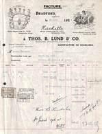 Angleterre, Bradford - Manufacture De Doublures Thos B Lund & Co 1925 (illustrée, Timbres) - Royaume-Uni