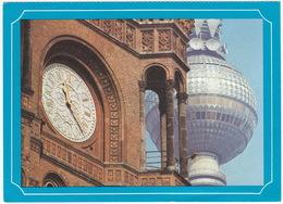 Berlin - Rathausuhr Und Fernsehturmkugel - 1977, D.D.R. - Mitte