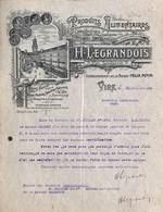 Proguits Alimentaires (correspondant Félix Potin) H. Legrandois à Vire (Calvados)1927 (illustrée Avec Porte-Horloge)) - France