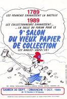 9EME SALON DU VIEUX PAPIER DE COLLECTION30/09/1989 N° 387/LES ANGLES (dil370) - Collector Fairs & Bourses