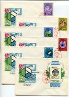 FDC COVERS X6 USSR 1974 EXPO'74 SPOKANE USA Mi# 4229-34 Bl 95 - FDC
