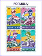SIERRA LEONE 2017 MNH** Formula 1 Formel 1 Formule 1 M/S - OFFICIAL ISSUE - DH1751 - Cars