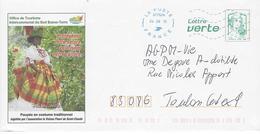 GUADELOUPE: Entier Postal Marianne De Ciappa: Poupée En Costume Traditionnel. - Entiers Postaux