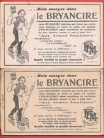 2 Buvards Anciens Produits Ménagers : LE BRYANCIRE -ENCAUSTIQUE AUX ARMES GAULOISES -PRODUITS F.E.M à LAGUIOLE (Aveyron) - Wassen En Poetsen