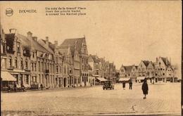 Cp Diksmuide Dixmude Westflandern, Grand Place, Groote Markt, Platz, Geschäftshäuser - Belgique
