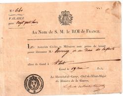 Laissez-passer (format 20cm X 15cm) - Documentos Históricos