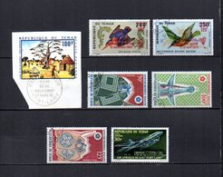 Tchad  1970  .-   Y&T  Nº    65-67/68-69/71-72      Aéreos - Chad (1960-...)