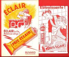 2 Buvards Anciens Illustrés -  Produits Ménagers : PAT ECLAIR Pour Entretien Des Fourneaux - ETS. LIEM à LILLE - Wash & Clean