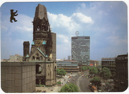Berlin - Kaiser Wilhelm Gedächtniskirche Mit Europa-Center - 'AEG', 'SFB', 'ASAHI PENTAX', 'SONY' Neon - Mitte