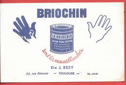 Buvard Ancien Illustré -  Produits Ménagers : BRIOCHIN - Ets J.BEZY à TOULOUSE - Wash & Clean