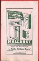 """Buvard Ancien Illustré - MEUBLES METALLIQUES """"MALLARET""""  ALGER & ORAN (Algérie)  Illustré Par Magnin  MOBILIER MODERNE - Buvards, Protège-cahiers Illustrés"""