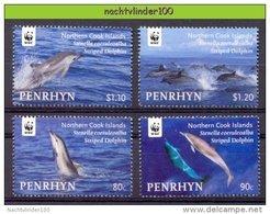 Nbx464s  WWF FAUNA ZEEZOOGDIER DOLFIJN STRIPED DOLPHIN MAMMAL DELPHIN DAUPHIN MARINE LIFE PENRHYN 2010 PF/MNH - Unused Stamps