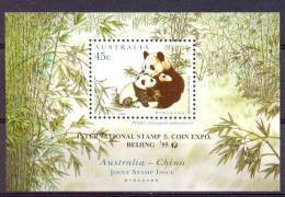 Mwt021 FAUNA ZOOGDIEREN REUZENPANDA GIANT PANDA MAMMALS RIEßENPANDA WILDLIFE EXPO BEIJING AUSTRALIA 1995 PF/MNH # - Beren
