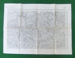 Carte De L'Institut Géographique National - Montauban - Forêt De Grésigne - N° 218 - Année 1941 - Landkarten