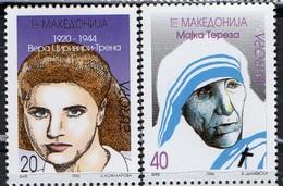 PIA  -  MACEDONIA  -  1996  : EUROPA - Donne Celebri  (Yv  91-92 ) - Macédoine