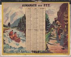 Almanach Des PTT 1948 Illustré Pierre Probst Camping Camp De Vacances Debut Congé Payé - Grand Format : 1941-60