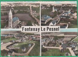 14 - Fontenay Le Pesnel - En Avion Au-dessus De - Multi-vues - Editeur: Lapie N°2.1-3.4 - France