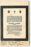 Avis De Décès - Blanche Laverte - Absinthe - Pernot Pontarlier - Funeral