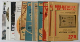 Lot De 25 Revues Bibliothèque De Travail - Histoire - 1948 à 1957 - 23 X 15,5 Cm - Boeken, Tijdschriften, Stripverhalen